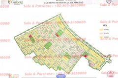 Gulberg Residencia Block T map