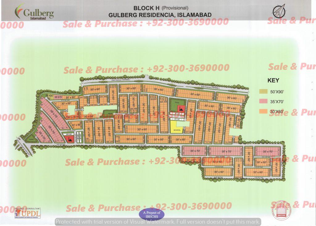 Gulberg Residencia Block H Map