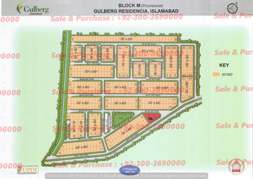 Gulberg Residencia Block M Map