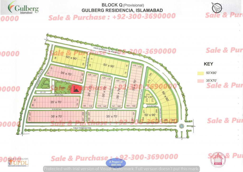Gulberg Residencia Block Q Map