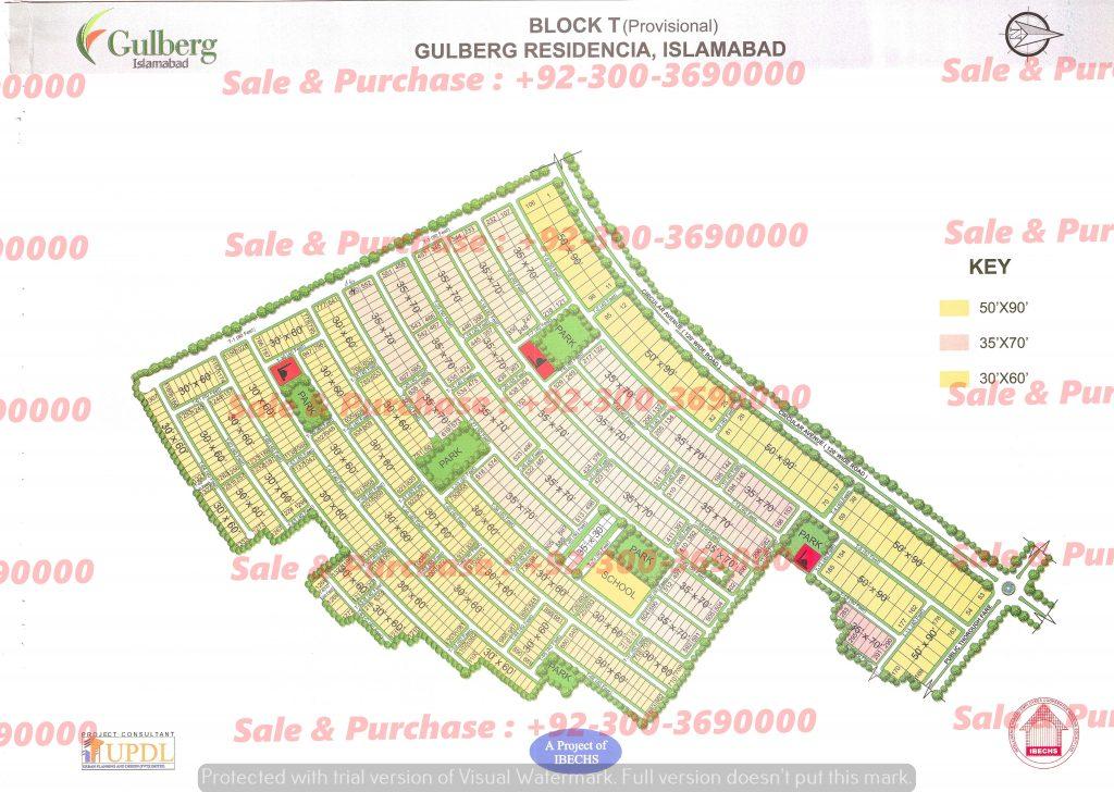 Gulberg Residencia Block T Map