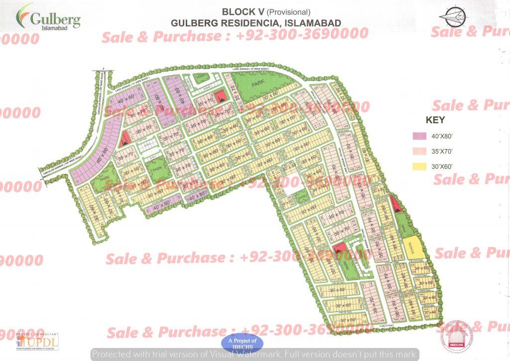 Gulberg Residencia Block V Map