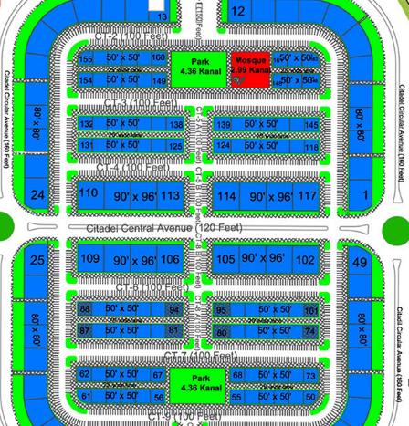 Gulberg D markez map