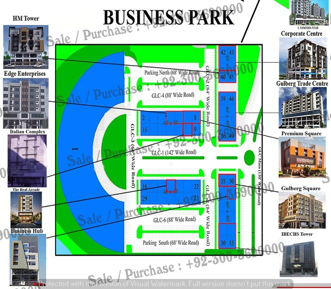 Business Park Commercial , Gulberg Greens Islamabad