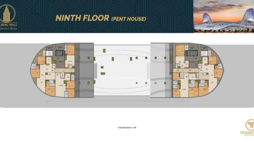 Gulberg Mall Ninth Floor Plan