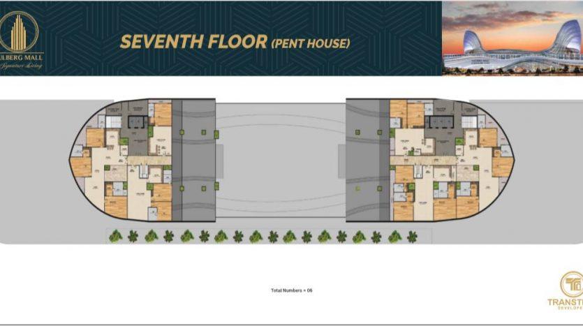 seventh floor pent house floor plan