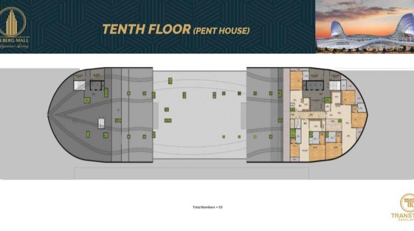 tenth floor pent house