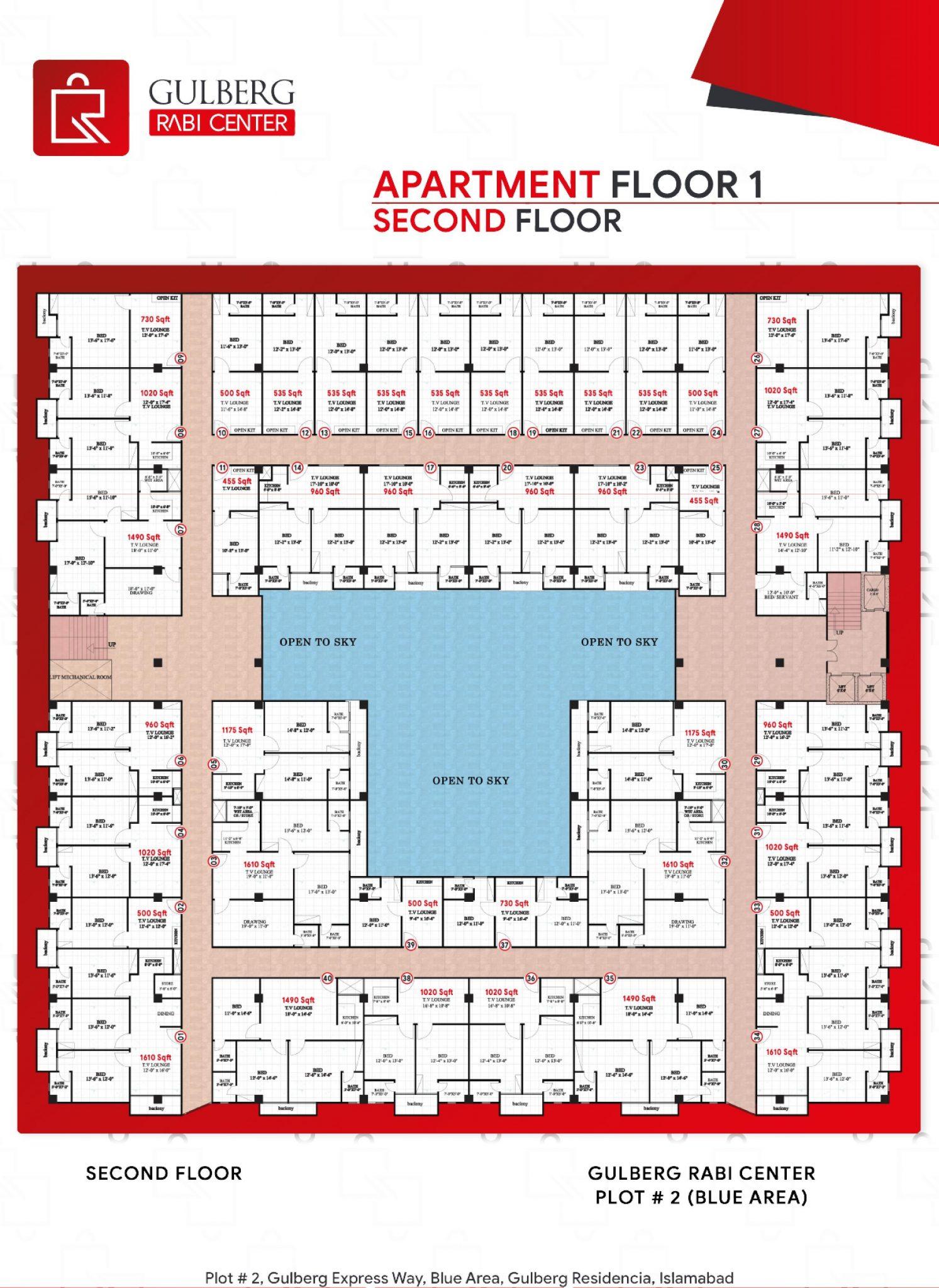 Payment Schedule Apartment Floor 1 - (Second Floor)