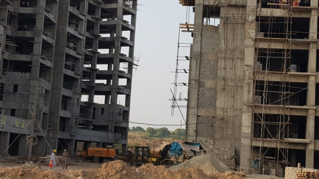 Under construction Towers of Gulberg Dream Heights